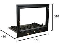 Pilis /67x51x43cm kandalló ajtó