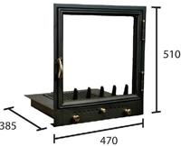 Bodok / 47x51x38,5cm kandalló ajtó